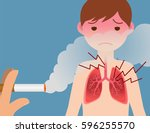 passive smoking concept  second ... | Shutterstock .eps vector #596255570