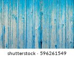 blue shabby wooden planks | Shutterstock . vector #596261549