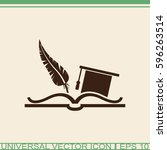 education symbol. celebrating... | Shutterstock .eps vector #596263514