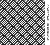 seamless vector pattern. black... | Shutterstock .eps vector #596263970