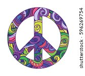 symbol of peace   vector icon.... | Shutterstock .eps vector #596269754