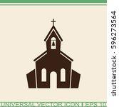 church vector icon. | Shutterstock .eps vector #596273564
