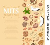 vertical seamless background... | Shutterstock .eps vector #596284706