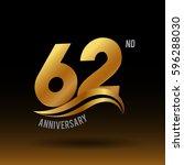 62 years golden anniversary... | Shutterstock .eps vector #596288030