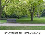 Bench In A Park On A Summer\'s...