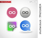 infinity icon. button with... | Shutterstock .eps vector #596316824