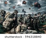 American Soldiers On Field Of...