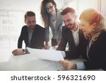 group of business people... | Shutterstock . vector #596321690