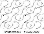 seamless pattern with birds... | Shutterstock .eps vector #596322029