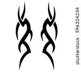 tribal designs. tribal tattoos. ... | Shutterstock .eps vector #596324234