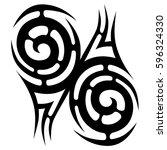 tattoo tribal vector designs... | Shutterstock .eps vector #596324330
