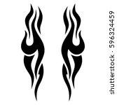 tattoo tribal vector designs... | Shutterstock .eps vector #596324459