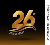 26 years golden anniversary... | Shutterstock .eps vector #596325518
