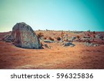 plain with rocky area | Shutterstock . vector #596325836