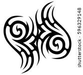 tribal designs. tribal tattoos. ... | Shutterstock .eps vector #596329148