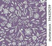 vector seamless floral pattern  ... | Shutterstock .eps vector #596329259