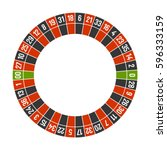 roulette casino wheel template... | Shutterstock .eps vector #596333159