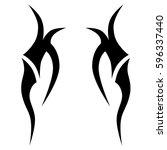tattoo tribal vector designs...   Shutterstock .eps vector #596337440