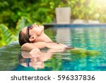 close up view of an attractive... | Shutterstock . vector #596337836
