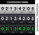 set of countdown timers in... | Shutterstock .eps vector #596338106