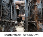 factory floor of carrie furnace ... | Shutterstock . vector #596339294
