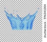 water splashing | Shutterstock .eps vector #596341004