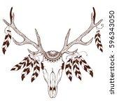 vintage hand drawn illustration ... | Shutterstock .eps vector #596343050