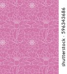 floral vector illustration... | Shutterstock .eps vector #596343686