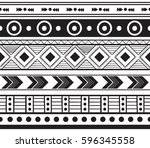 traditional symbols  tribal and ... | Shutterstock .eps vector #596345558