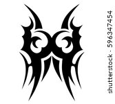 tattoo tribal vector designs... | Shutterstock .eps vector #596347454