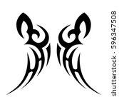 tattoo tribal vector designs... | Shutterstock .eps vector #596347508