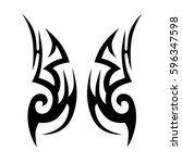 tribal designs. tribal tattoos. ... | Shutterstock .eps vector #596347598
