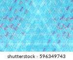 colorful mosaic illustration... | Shutterstock . vector #596349743