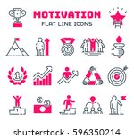 motivations outline icons... | Shutterstock .eps vector #596350214