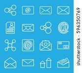 send icons set. set of 16 send... | Shutterstock .eps vector #596350769