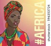 Young Beautiful African Fashio...