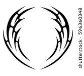 Tribal designs. Tribal tattoos. Art tribal tattoo. Vector sketch of a tattoo.   Shutterstock vector #596360348