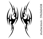 tattoo tribal vector designs.... | Shutterstock .eps vector #596360438