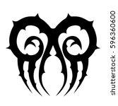tattoo tribal vector designs... | Shutterstock .eps vector #596360600