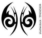 tattoo tribal vector designs... | Shutterstock .eps vector #596365634