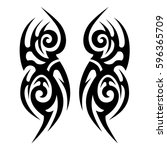 tattoo tribal vector designs... | Shutterstock .eps vector #596365709