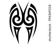 tribal designs. tribal tattoos. ... | Shutterstock .eps vector #596369318
