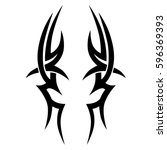 tattoo art swirls tribal vector ... | Shutterstock .eps vector #596369393