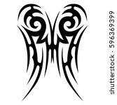 tattoo tribal vector designs... | Shutterstock .eps vector #596369399