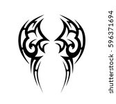 tattoo tribal vector designs... | Shutterstock .eps vector #596371694