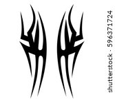 tribal designs. tribal tattoos. ... | Shutterstock .eps vector #596371724