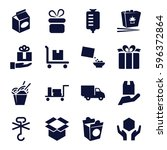 package icons set. set of 16...