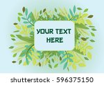 nature frame background with... | Shutterstock .eps vector #596375150