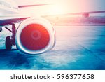 future power of air plane ... | Shutterstock . vector #596377658