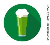 green beer mug vector isolated. ... | Shutterstock .eps vector #596387924